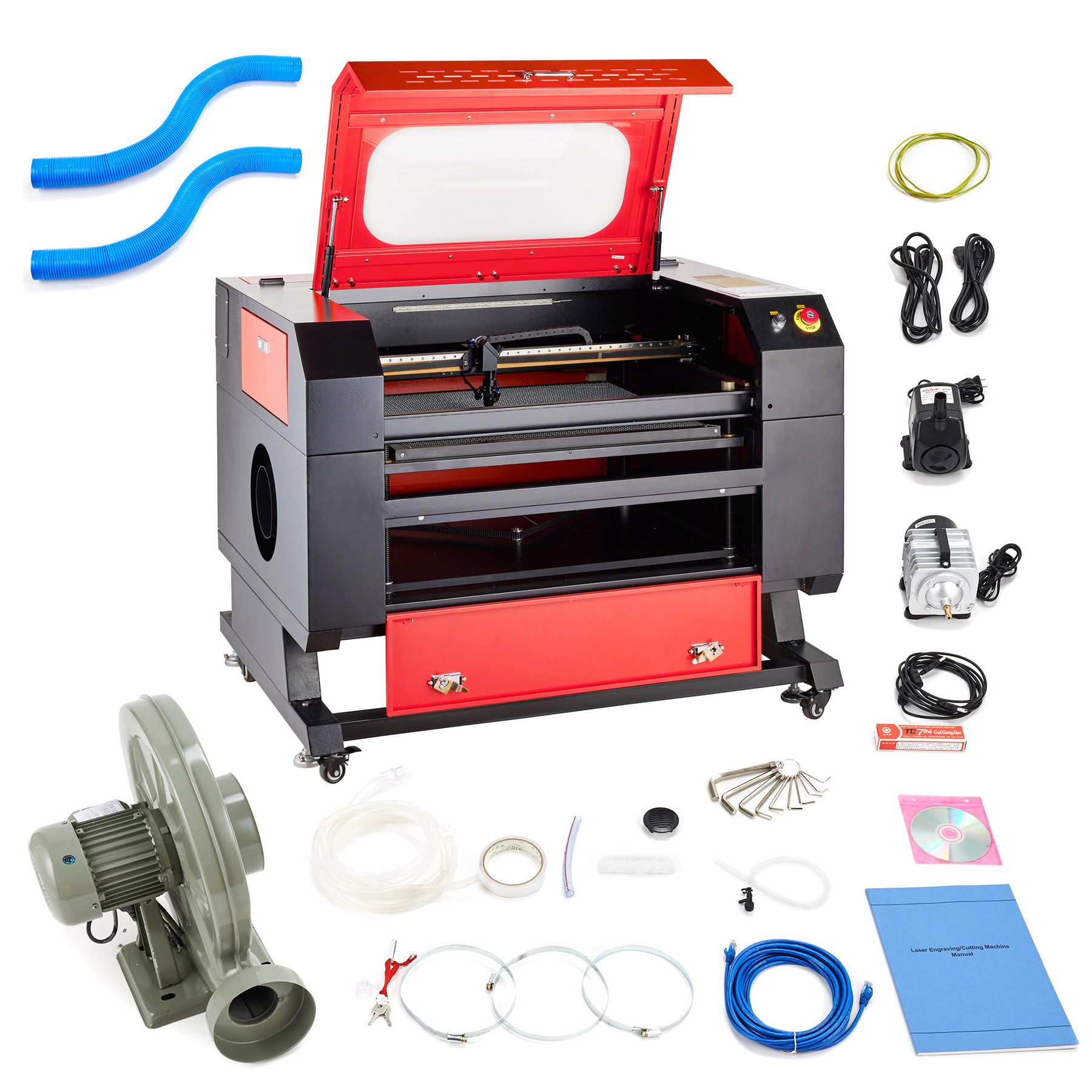 60W 110V CO2 Laser Engraving Machine Engraver Cutter with USB Interface