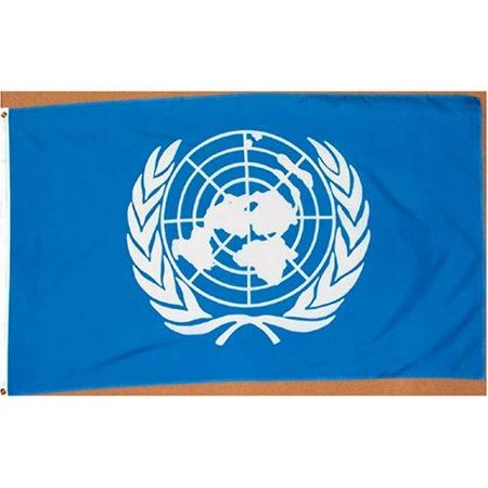 3x5 Foot United Nations Flag Double Stitched International Flag with Brass Grommets | 3 by 5 Foot Premium Indoor Outdoor Polyester Banner Flag