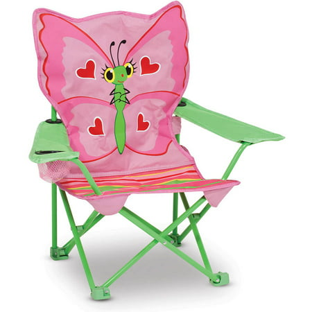 Melissa   Doug Sunny Patch Bella Butterfly Outdoor Folding Lawn And Camping Chair