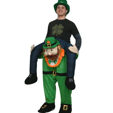 Adult Carry Me Buddy Ride On A Shoulder Piggy Back Leprechaun Costume - Costume Store Near Me