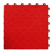 Speedway Garage Tile Interlocking Garage Flooring 6 LOCK Diamond Tile Red 25 pack