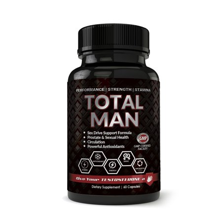 Totally Products Total Man 1600mg with Maca Root Powder Tribulus & Tongkat All-Natural aphrodisiac (60 (Best Aphrodisiac For Women)