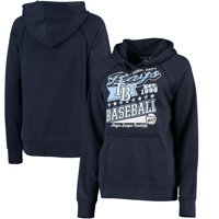 Tampa Bay Rays 5th & Ocean by New Era Women's Raw Edges & Pouch Raglan Pullover Hoodie - Navy