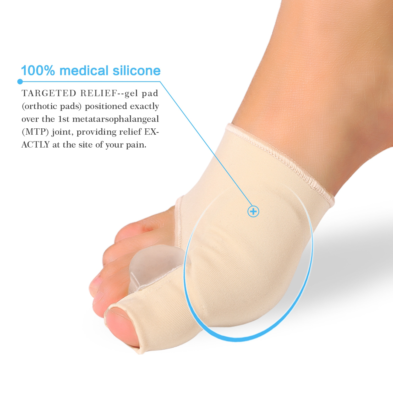 Yosoo 1 Pair Bunion Corrector and Bunion Relief Sleeve with Gel Bunion Pads Cushion Splint Orthopedic Bunion Protector for Men and Women,Hallux Valgus Corrector Bunion Bootie Guard,Stop Bunion Pain