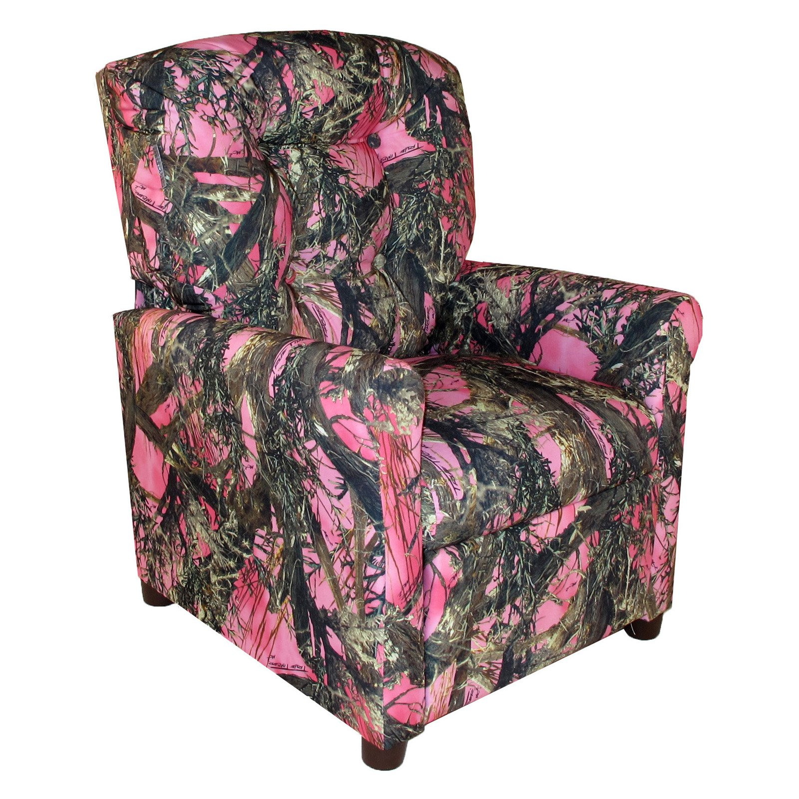 Dozydotes 4-Button Kid Recliner - Camouflage Pink with True Timber Fabric