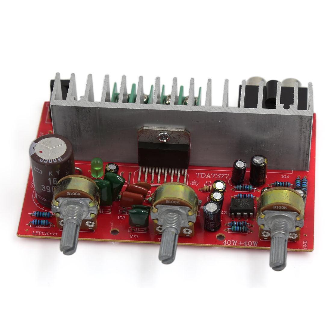 Unique Bargains 40W+40W LFE Subwoofer Audio Hi-Fi 2 Channel Car Stereo Power Amplifier Board