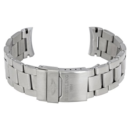 Breitling Aerospace Evo Titanium Bracelet Titanium Deployant Buckle 22-20mm Breitling 22-20mm Aerospace Evo Titanium Bracelet with a Titanium Deployant Buckle. Lugs 22 mm, Tapers To 20 mm. Fits all Breitling Aerospace Evo Models.