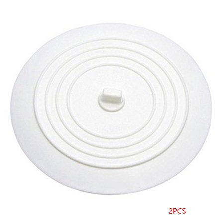 2 Pcs Diameter 15CM Tub Stopper Food Grade Silicone Solid Color Large Round Flat Sink Plug Covers