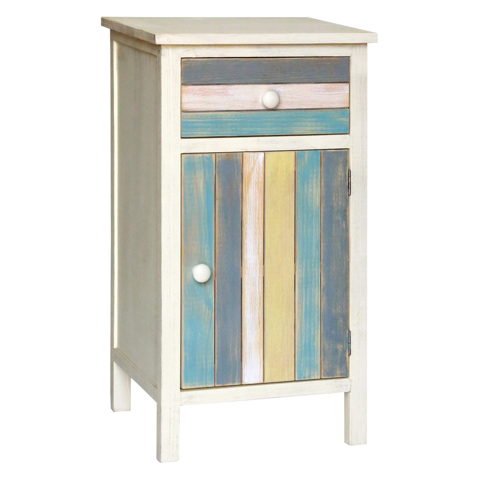 Gallerie Decor Seaside One Door Cabinet with Single Drawer