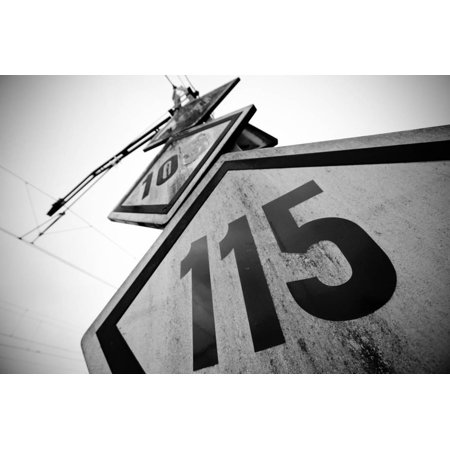 Speed Limit Railway Signpost Print Wall Art By ABB Photo