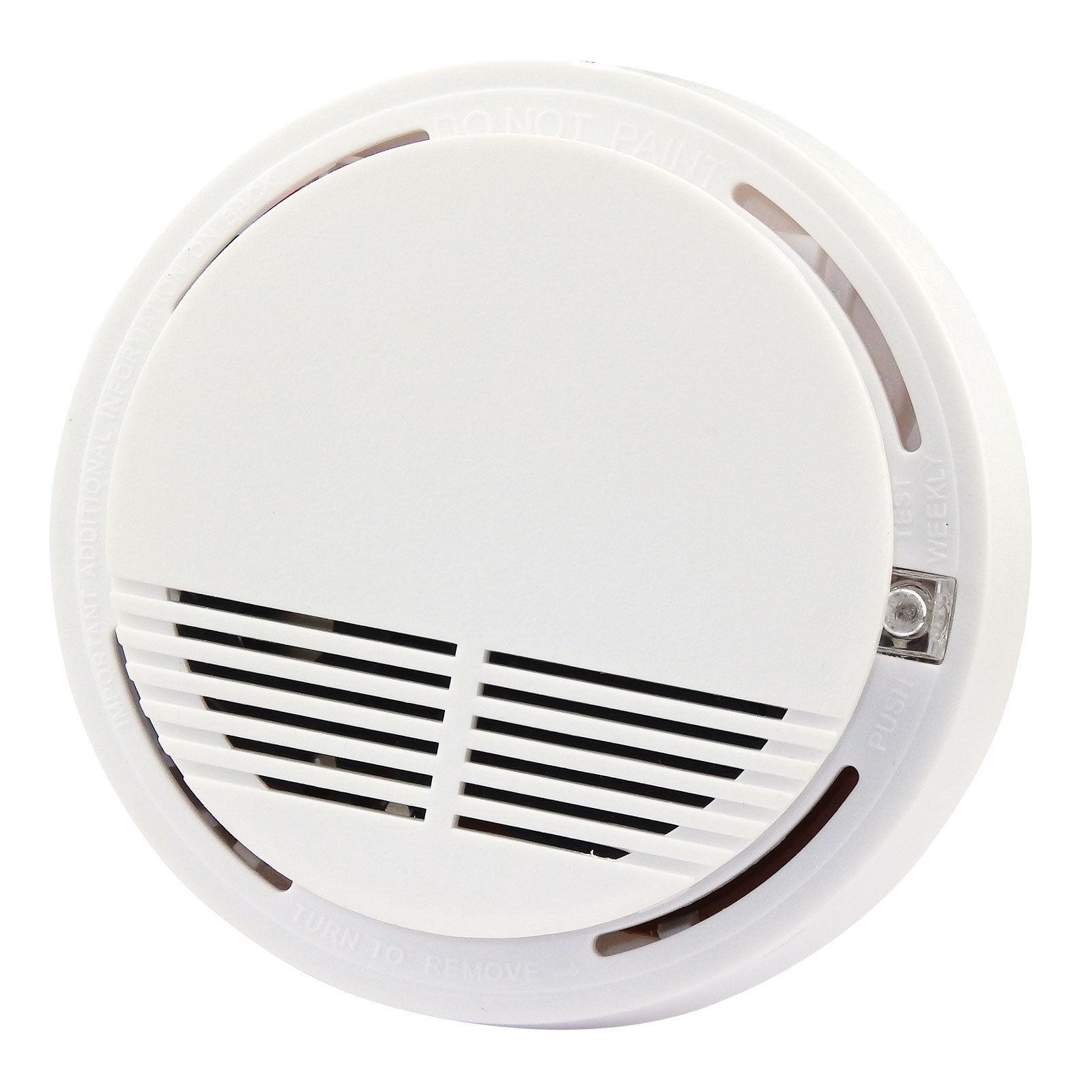 TekDeals Wireless Smoke Detector Home Security Fire Alarm Sensor System Cordless