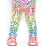Canis Kids Baby Girls Cartoon Sequin Clothes Bottoms Leggings Pants Toddler Trousers