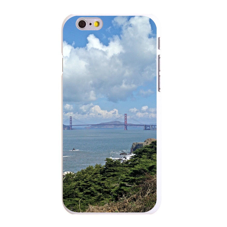 "CUSTOM White Hard Plastic Snap-On Case for Apple iPhone 6 PLUS / 6S PLUS (5.5"" Screen) - Golden Gate Bridge San Francisco"