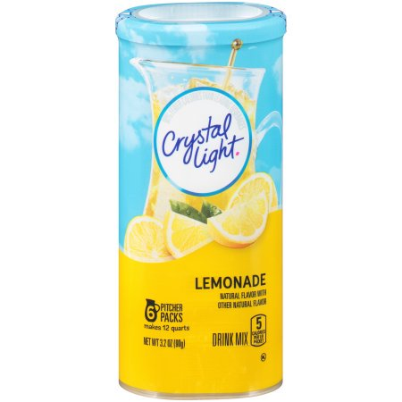 - (6 Pack) Crystal Light Lemonade Drink Mix, 6 count Canister