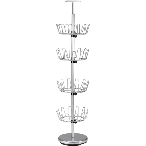 Household Essentials 4-Tier Revolving Shoe Tree, Silver by Generic