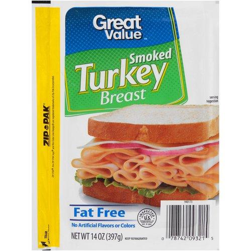 Great Value Smoked Turkey Breast, 14 oz