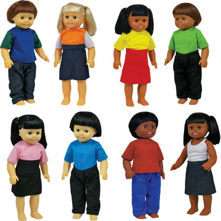 Get Ready 639 Multicultural Dolls  Set of 8