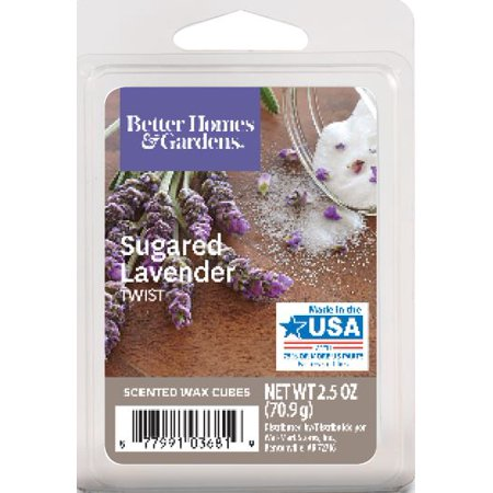 Better Homes & Gardens 2.5 oz Sugared Lavender Twist Scented Wax