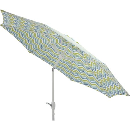 Mainstays 9 Market Umbrella  Miranda Chevron With White Frame