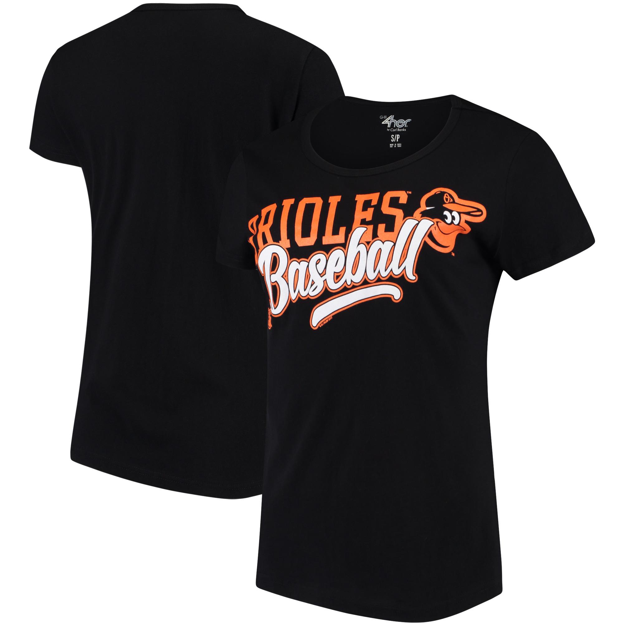 Baltimore Orioles G-III 4Her by Carl Banks Women's Endzone Fashion T-Shirt - Black