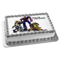 Transformers Optimus Prime Autobots Bumblebee Edible Cake Topper Image