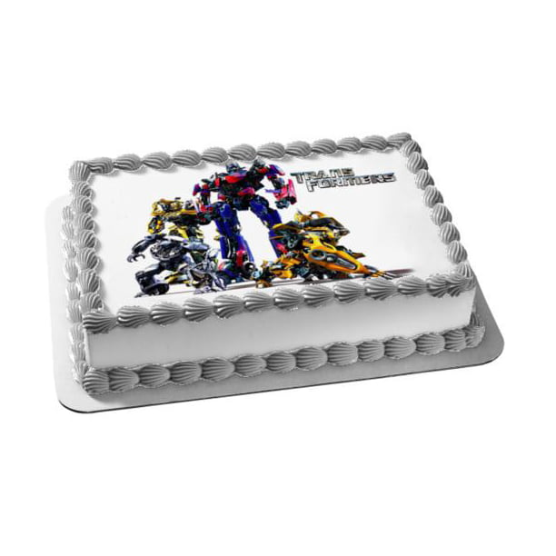 Awesome Transformers Optimus Prime Autobots Bumblebee Edible Cake Topper Funny Birthday Cards Online Inifofree Goldxyz