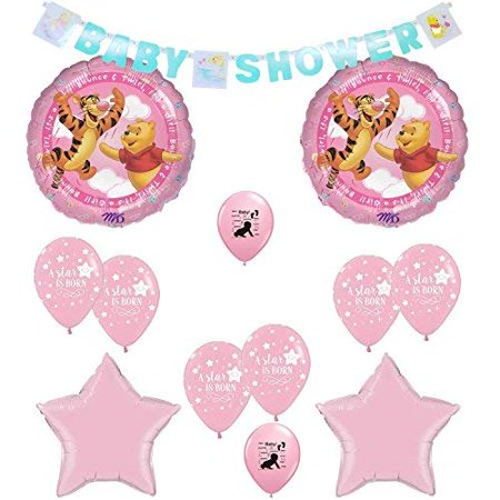 Winnie the Pooh Its A Girl Baby Shower Balloons Decoration Kit