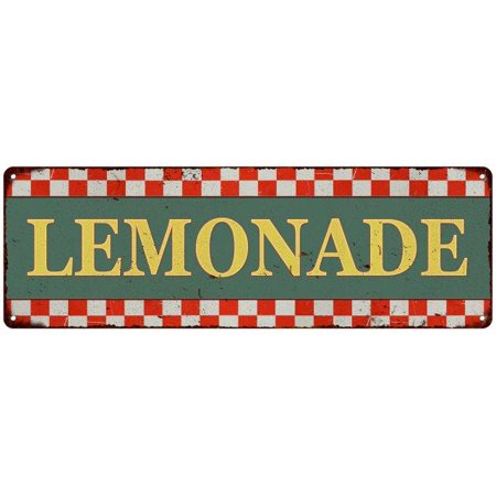 Old Style Metal - Lemonade Checkerboard Country Style Vintage Metal Sign 6x18 Old Advertising Man Cave Game Room M6180680