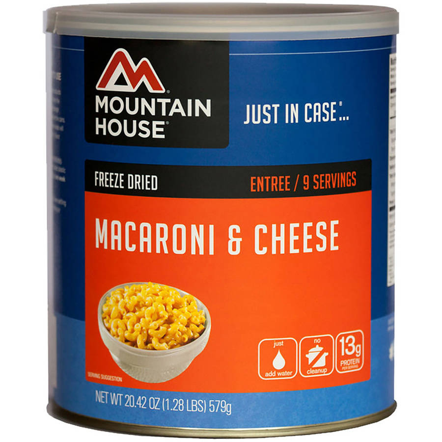Mountain House Freeze Dried Macaroni and Cheese Can