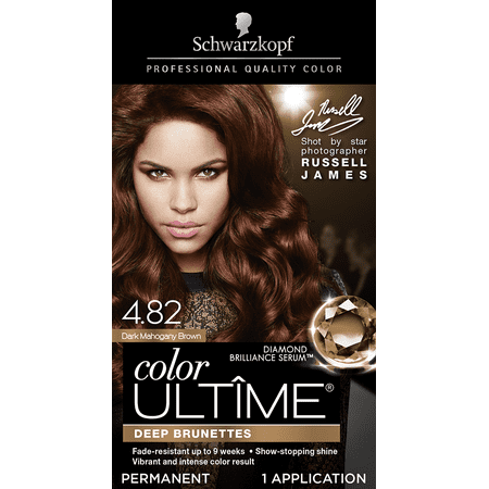 Schwarzkopf Color Ultime Permanent Hair Color Cream, 4.82 Dark Mahogany (Sun Bum Hair Lightener On Dark Hair)