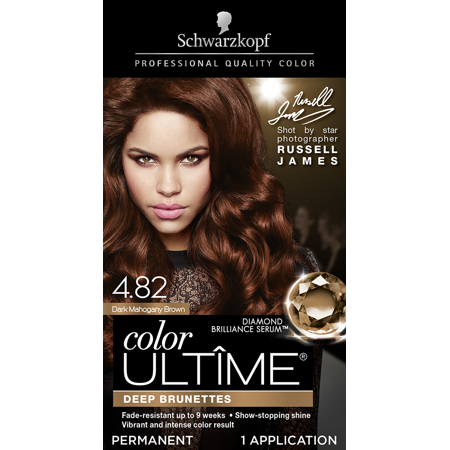Schwarzkopf Color Ultime Permanent Hair Color Cream, 4.82 Dark Mahogany