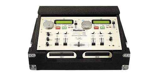 Odyssey Cases CNMCM1 New Black Carpeted Cd Mix DJ Numark Case W  Detachable Lid by