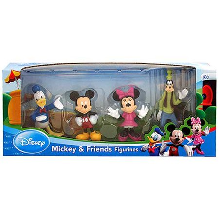 Disney > Mickey and Friends - Donald Duck, Mickey, Minnie Mouse, and Goofy Figure Set Multi-Colored (Donald Duck Halloween Cartoons)