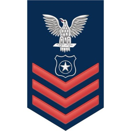 3.8 Inch Navy Red E-6 Master At Arms MA Decal Sticker