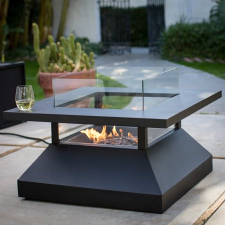 Belham Living Kiel 34 in. Gas Fire Pit Table (Outdoor Living Fire Pits Table)