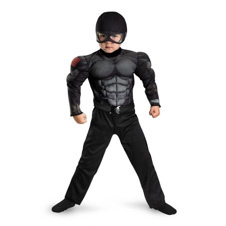 Gi Joe Costume (GI Joe Snake Eyes Muscle Jumpsuit Costume Child Toddler Large)