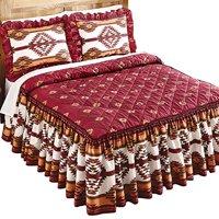 Southwestern Aztec Taos Native American Quilt-Top Lightweight Bedspread, King, Multi