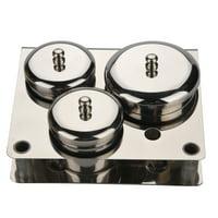 Zaqw 3pcs Stainless Steel Nail Art Mini Powder & Liquid Set Cans Storage Box Compact Manicure Tools, Tool Cans,Nail Art Tools