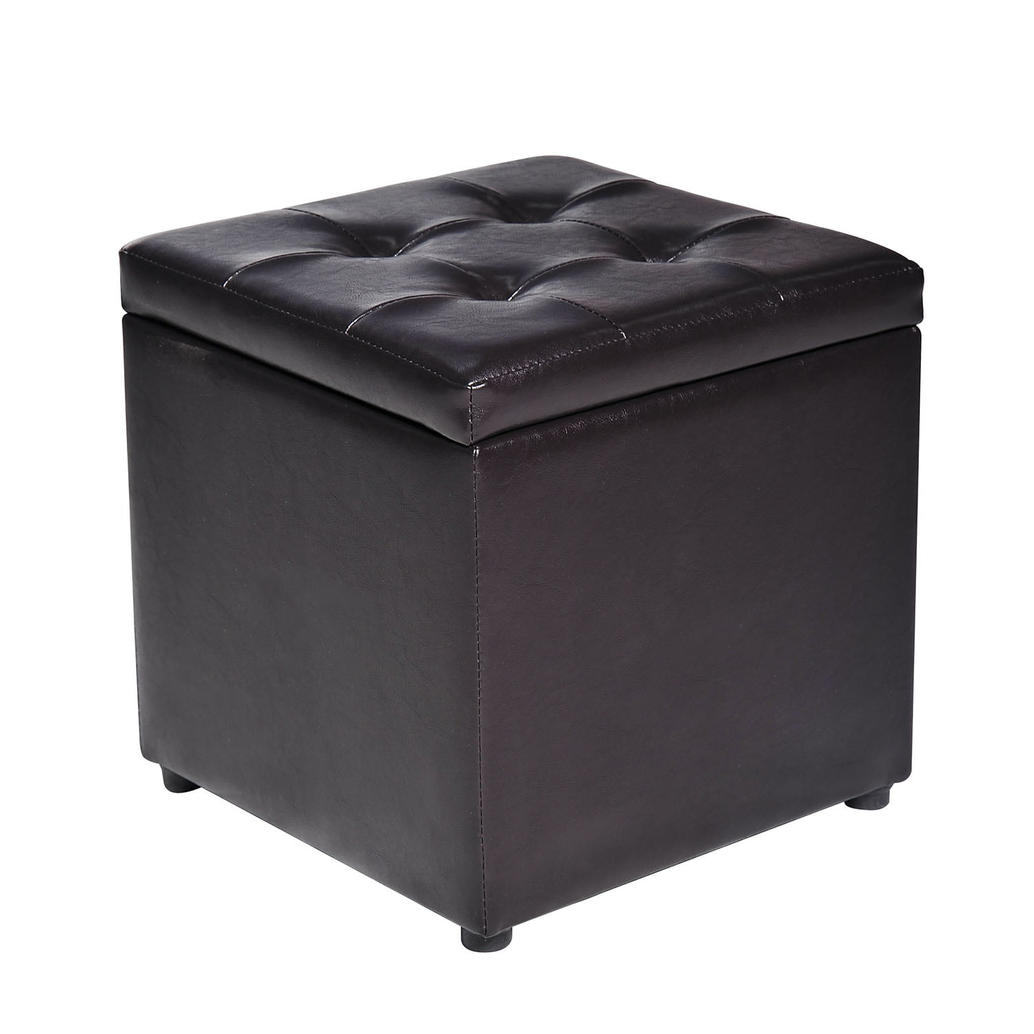 HomCom Faux Leather Storage Ottoman   Footstool by Aosom