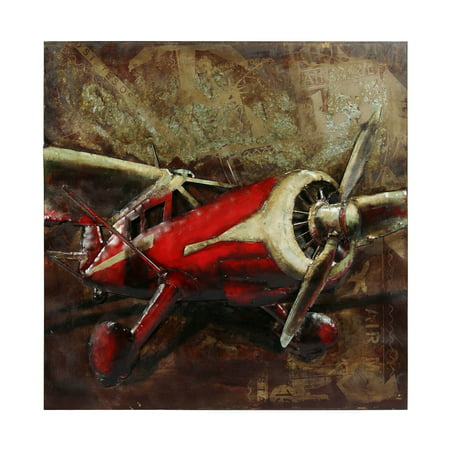 """Empire Art Direct Helice Hand Painted 3D Metal Wall Art, 40"""" x 40"""" x 3.0"""", Ready to Hang"""