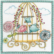 """Birdcage Counted Cross Stitch Kit, 10"""" x 10"""", 14-Count"""