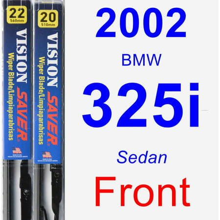 2002 BMW 325i Wiper Blade Set/Kit (Front) (2 Blades) - Vision Saver