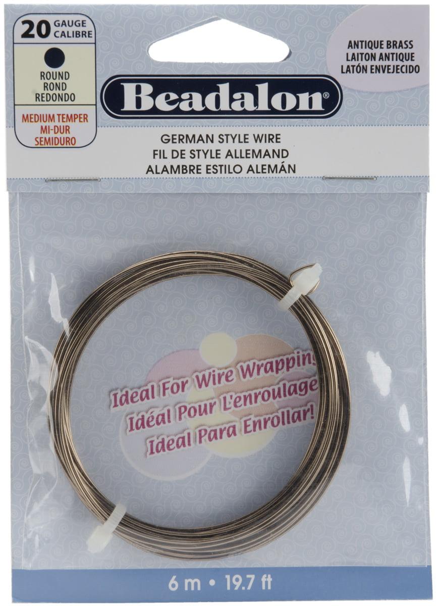 German Style Wire-Antique Brass - 20 Gauge, 19.68\'