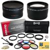 Sony DSLR Camera Filter Accessory Pack includes Opteka 0.43x Fisheye Lens, 2.2x Telephoto, 4 Piece Close Up Macro Lens Set, Vivitar 6 Piece Graduated Color Filter Set, Cleaning Set, $50 Gift Card <b>Whats in the box:</b><br><br><b>*Opteka +1, +2, +4 and Macro Close Up Lens Set<br></b>-Professional High Definition II +1, +2, +4, +10 Close-Up Lens Set Includes pouch<br>-High-index / low-dispersion optical glass<br>-Fully multi-coated, Anti-reflection coating<br>-High speed auto-focus / Infrared compatible<br>-Brand new, Lifetime warranty<br><br><b>*2.2x High Definition II Telephoto Lens<br></b>-High-index / low-dispersion optical glass<br>-Digital Multi-Coated<br>-High speed auto-focus / Infrared compatible<br>-Maximize day and night shots by providing maximum light and image transmission<br>-Built-in macro lens for extreme close-up shots<br>-Lens bag, lens covers, and instructions included<br><br><b>*0.43x High Definition II Super Wide Angle Panoramic Macro Fisheye Lens<br></b>-High-index / low-dispersion optical glass<br>-Can be used as a full frame fisheye or circular image fisheye<br>-Fully multi-coated, every element<br>-Anti-reflection coating<br>-Titanium anodized finish<br>-Fantastic for all types of photographic situations<br>-Lens bag, lens covers, and instructions included<br><br><b>Vivitar 6 Piece Graduated Filter Set<br></b>-Multi-coated Essential Graduated 6 Piece Color Filter Kit<br>-High quality construction<br>-Rotating frame to allow desired placement of color<br>-6 Pocket Filter Wallet<br>-Creative Photography for Skylines and Landscapes<br><br><b>*Digital Camera Lens Cleaning Set<br></b>-Compact Tabletop Tripod<br>-Digital Camera & Lens Cleaning Kit<br>-LCD Screen Protectors<br><br><b>*Ring Adapter<br><br></b><b>*50$ Gift Card for Online Photo Prints<br><br></b>
