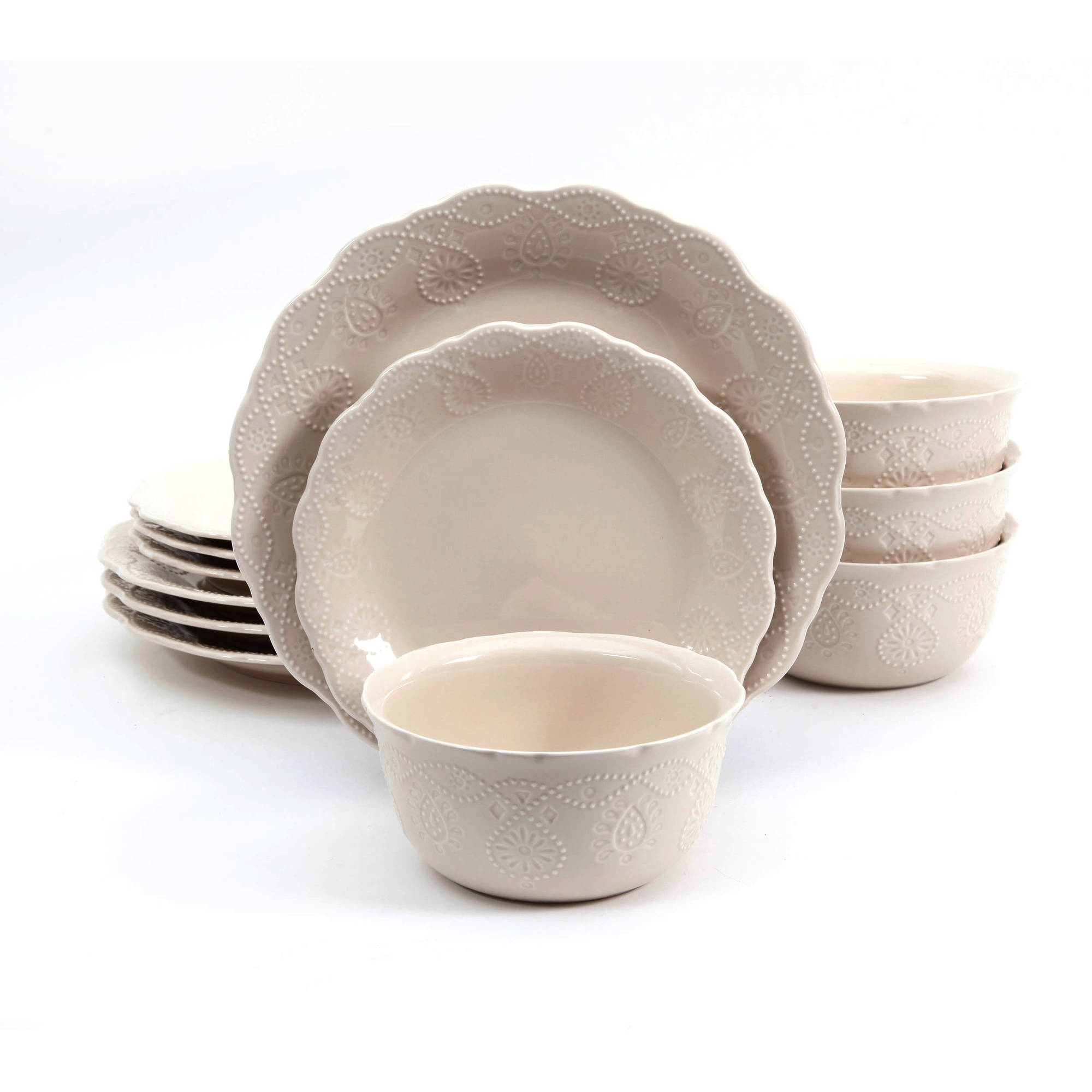 ORIGINAL The Pioneer Woman Cowgirl Lace 12Piece Dinnerware Set White Service  sc 1 st  eBay & ORIGINAL The Pioneer Woman Cowgirl Lace 12Piece Dinnerware Set White ...