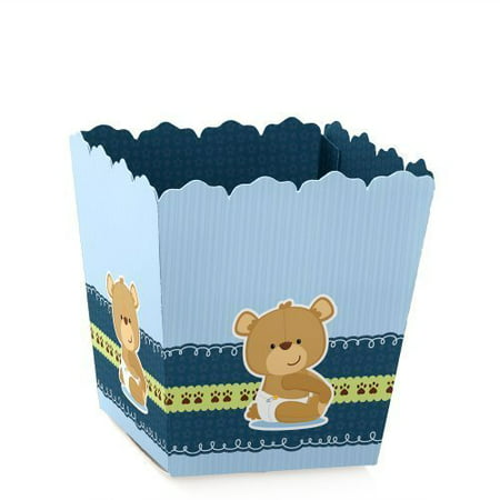 Boy Baby Teddy Bear - Party Mini Favor Boxes - Baby Shower or 1st Birthday Party Treat Candy Boxes - Set of 12