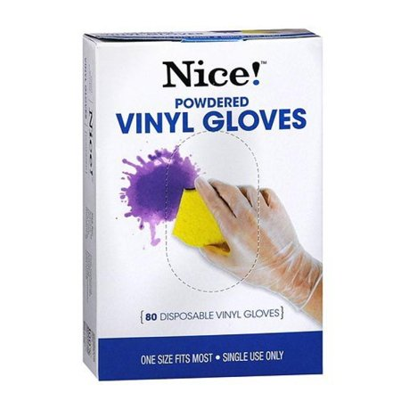 Walgreens Disposable Powdered Vinyl Gloves 80 ea - Walmart com