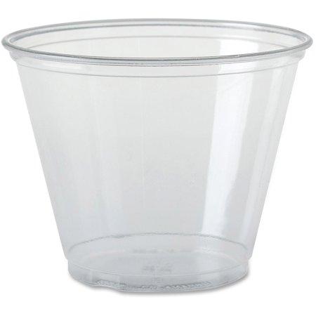 Solo Ultra-clear Squat Cups, Clear, 1000 / Carton (Quantity) Squat Paper Cup