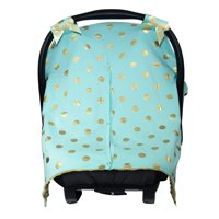 JLIKA car seat canopy cover- mint gold polka dots