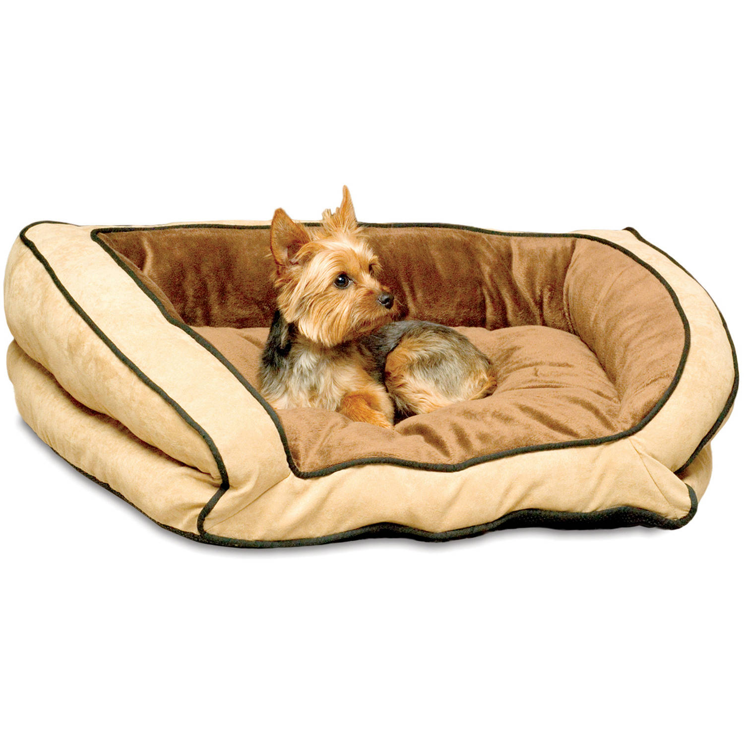 K&H Pet Products Bolster Couch Dog Bed, Large, Mocha/Tan